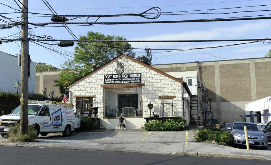 The Post Road Iron Works at 345 W. Putnam Ave. in Greenwich Tuesday Oct. 18, 2011. Developers have proposed building a continuing care retirement community on the 15-acre site. Photo: Bob Luckey / Bob Luckey / Greenwich Time