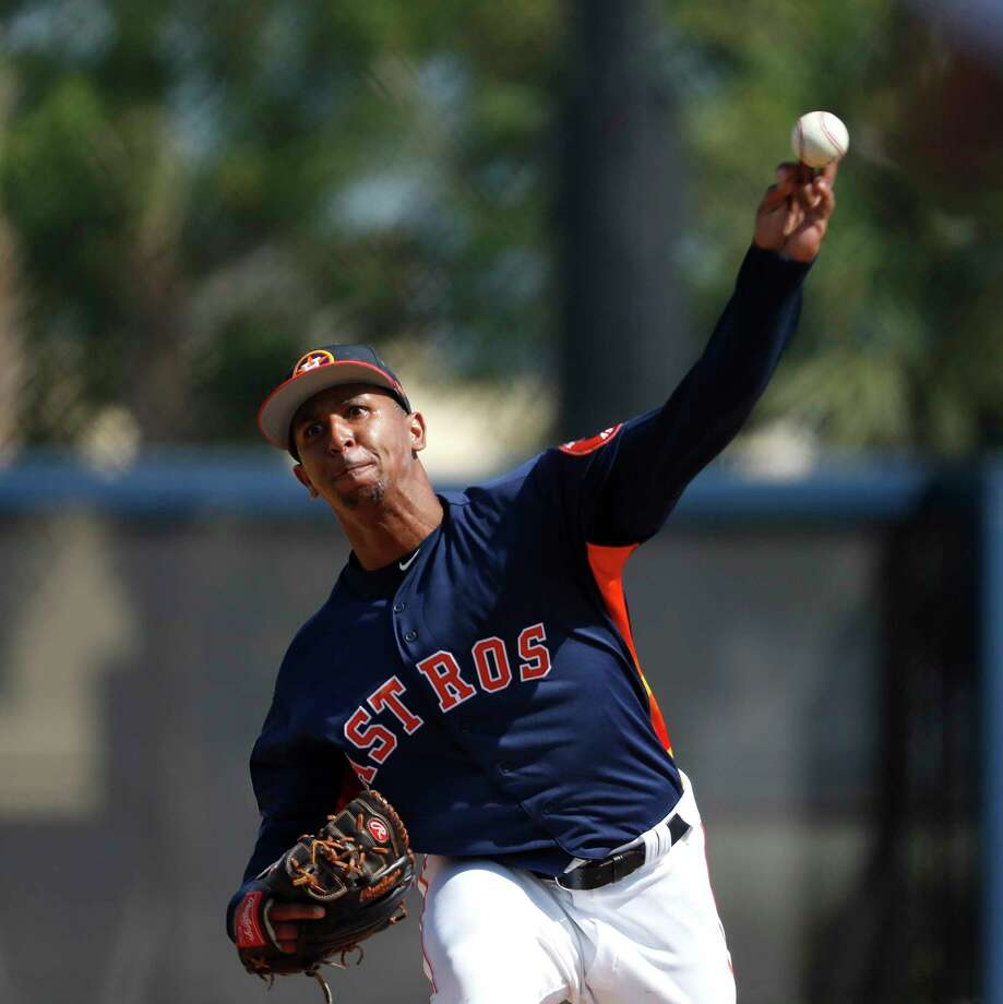 Houston Astros LHP pitcher Anthony Gose (26) during spring training at The Fitteam Ballpark of the Palm Beaches, Friday, Feb. 23, 2018, in West Palm Beach. Photo: Karen Warren, Houston Chronicle / © 2018 Houston Chronicle