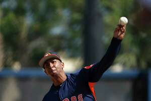 Houston Astros LHP pitcher Anthony Gose (26) during spring training at The Fitteam Ballpark of the Palm Beaches, Friday, Feb. 23, 2018, in West Palm Beach.