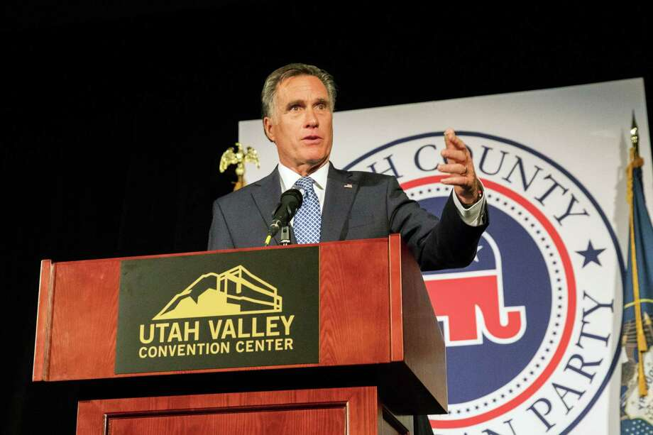 Mitt Romney is running for the U.S. Senate. Some Utah insiders are saying that the former  Massachusetts governor hopes to become majority leader of that body.  Photo: Kim Raff / © 2018 Bloomberg Finance LP