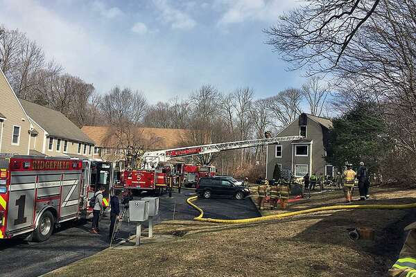 Crews from the Georgetown Volunteer Fire Department were called to 56 Portland Ave. in Georgetown, Conn., around 10 a.m. on Feb. 24, 2018, for a fire that broke out in a second floor condominium.