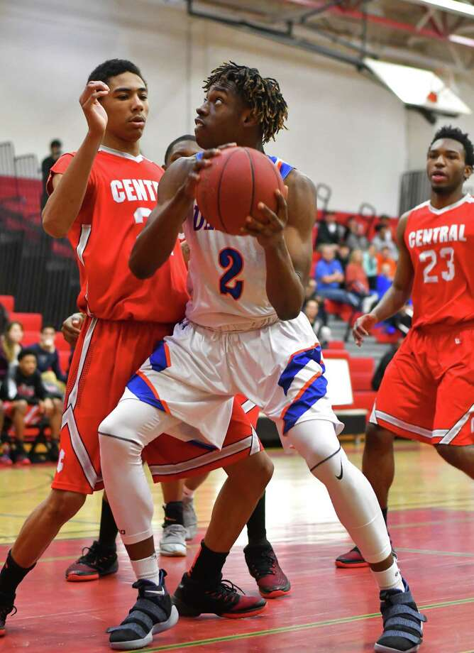 FCIAC quarter final action between the Danbury Hatters and the Bridgeport Central Hilltoppers played at Fairfield Warde High School on Saturday February 24, 2018, in Fairfield, Connecticut. Photo: Gregory Vasil / For Hearst Connecticut Media / Connecticut Post Freelance