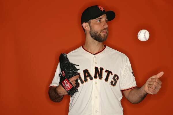 SCOTTSDALE, AZ - FEBRUARY 20: Madison Bumgarner #40 of the San Francisco Giants poses on photo day during MLB Spring Training at Scottsdale Stadium on February 20, 2018 in Scottsdale, Arizona. (Photo by Patrick Smith/Getty Images)