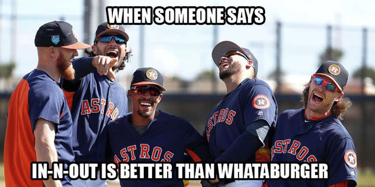 Original photo by Karen Warren, edit by Demetrio Teniente. Browse through the photos for memes that will help you survive spring training.
