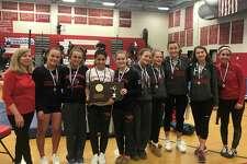 The Greenwich High School gymnastics team won the CIAC Class L championship for the third straight year on Saturday at Pomperaug High School.