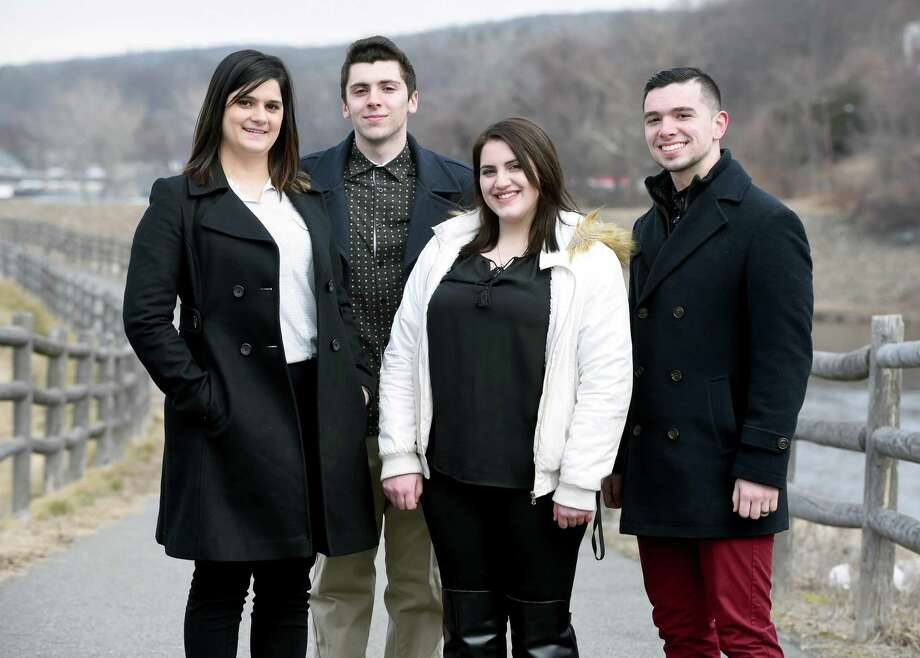 Anna Andrettta and David Papcin of Ansonia and Kassie DeFala and Michael Shea of Derby are the leading the formation of the Naugatuck Valley Young Republican Club which will conduct their organizational meeting Monday at 6:30 p.m. in Derby City Hall. Photo: Arnold Gold / Hearst Connecticut Media / New Haven Register