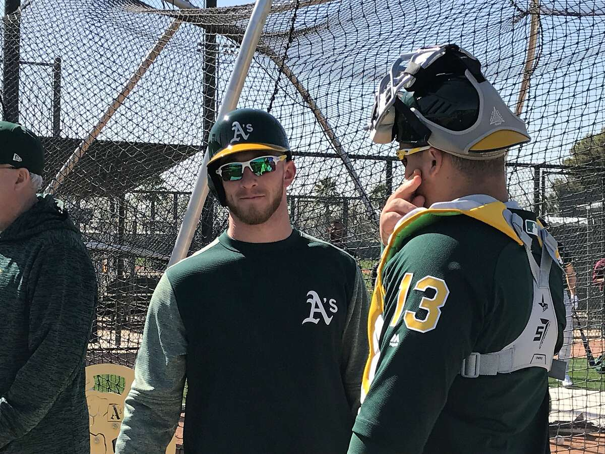Former Yankees first-round draft pick Slade Heathcott is in the A's spring camp.