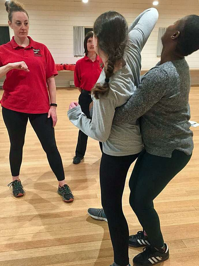 The Norwalk, Conn., Police Department recently partnered up with a nonprofit organization to teach rape aggression defense training. Photo: Contributed Photo / Norwalk Police Department / Contributed Photo / Connecticut Post Contributed