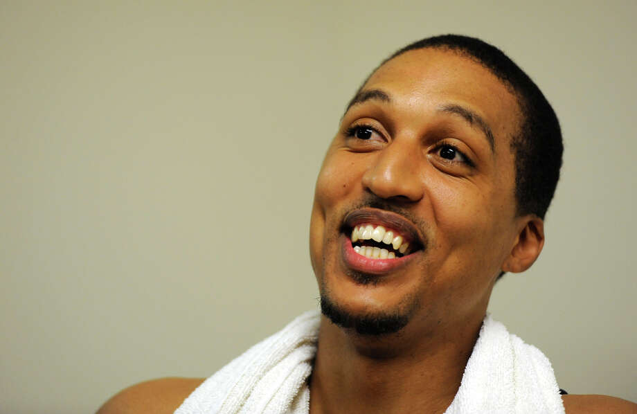 Former CBA player and now NBA standout Jamario Moon made his way back to Albany, N.Y. July 20, 2011, to visit and workout with former team mate Derek Rowland at the Stueben Club.  (Skip Dickstein/ Times Union) Photo: Skip Dickstein / 2011