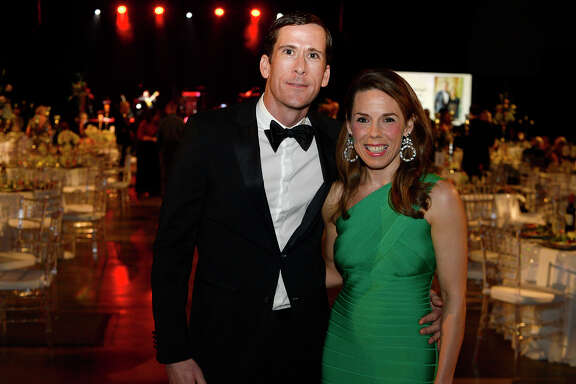Greg and Ashley Messina at the American Heart Association's Heart Ball at the Beaumont Civic Center on Saturday night.  Photo taken Saturday 2/24/18 Ryan Pelham/The Enterprise