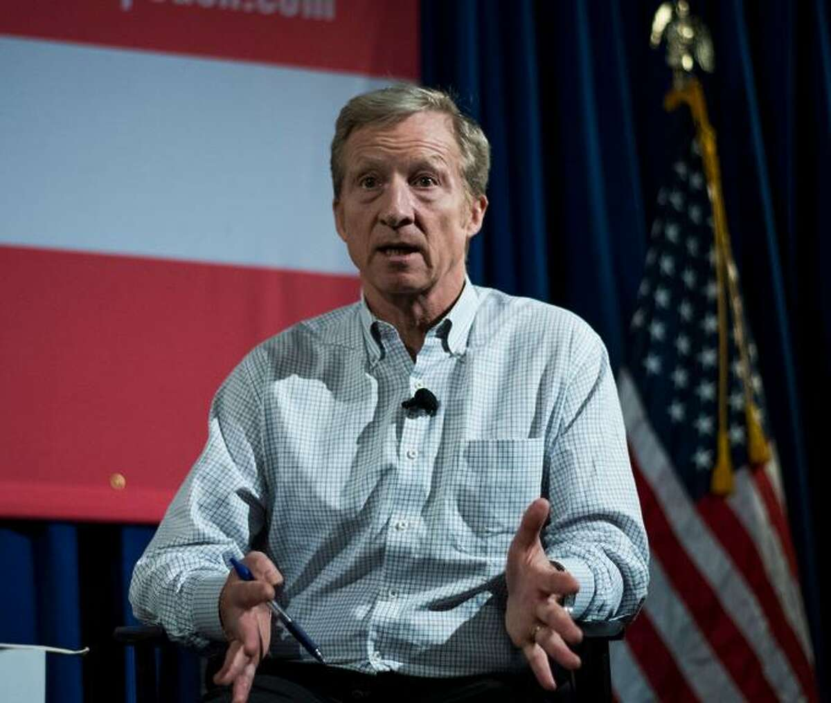US environmental activist and Democrat Tom Steyercalled out his fellow Democrats as well as Republicans for allowing America to be corrupted at the state Democratic Party convention.
