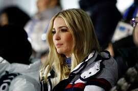 Ivanka Trump, daughter of U.S. President Donald Trump, watches the closing ceremony of the 2018 Winter Olympics in Pyeongchang, South Korea, Sunday, Feb. 25, 2018.