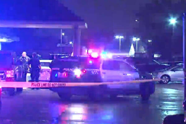 A man who fired shots outside a Houston nightclub was fatally shot by security early Sunday.