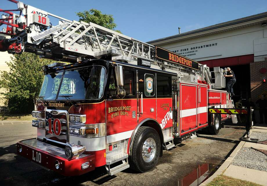 Ladder 10, the city's new state of the art fire truck, at an unveiling ceremony at the Bridgeport Fire Department's East Side station at 950 Boston Avenue in Bridgeport, Conn. on Wednesday, September 27, 2017. Photo: Brian A. Pounds / Hearst Connecticut Media / Connecticut Post