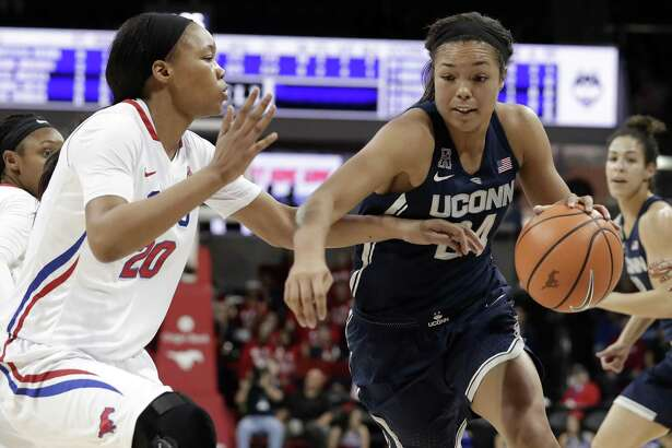 UConn's Napheesa Collier has scored in double figures in all 17 February games the last two seasons.