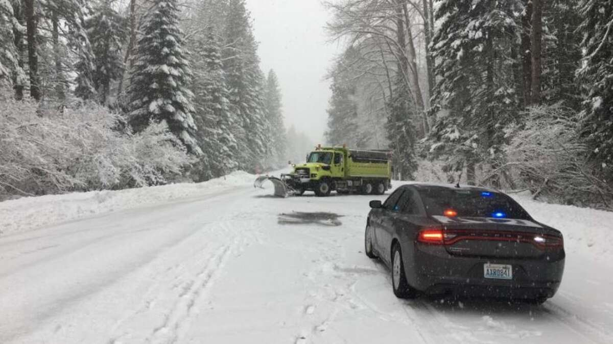 Stevens Pass (Photo courtesy Washington State Patrol). 18 to 30 inches of snow, or more.
