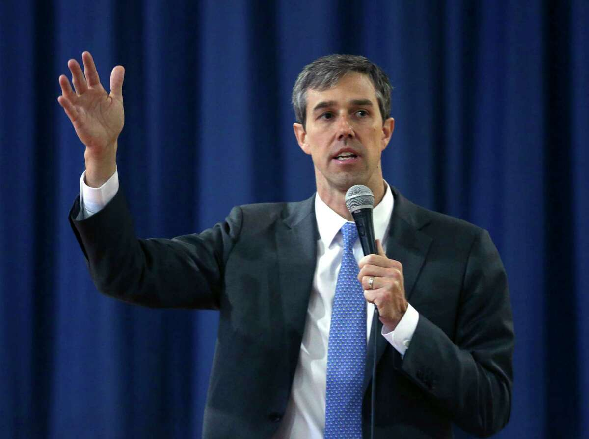 Congressman Beto O'Rourke (D-El Paso) conducts a town hall meeting Tuesday, Feb. 13, 2018 at the Ella Austin Community Center on San Antonio's east side. O'Rourke is seeking the Democratic primary nomination to run against current U.S. Senator Ted Cruz. Early voting starts Feb. 20 with primary day March 6.