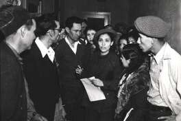 Rights activist Emma Tenayuca, seen in 1937, led 12,000 pecan shellers on strike in 1938.