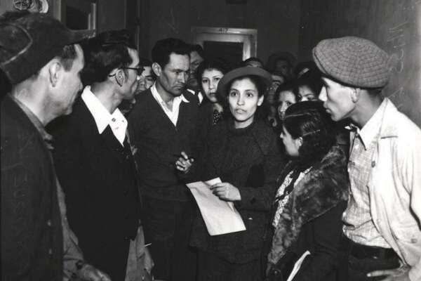 Rights activist Emma Tenayuca, seen in 1937, led 12,000 pecan shellers on strike in 1938.