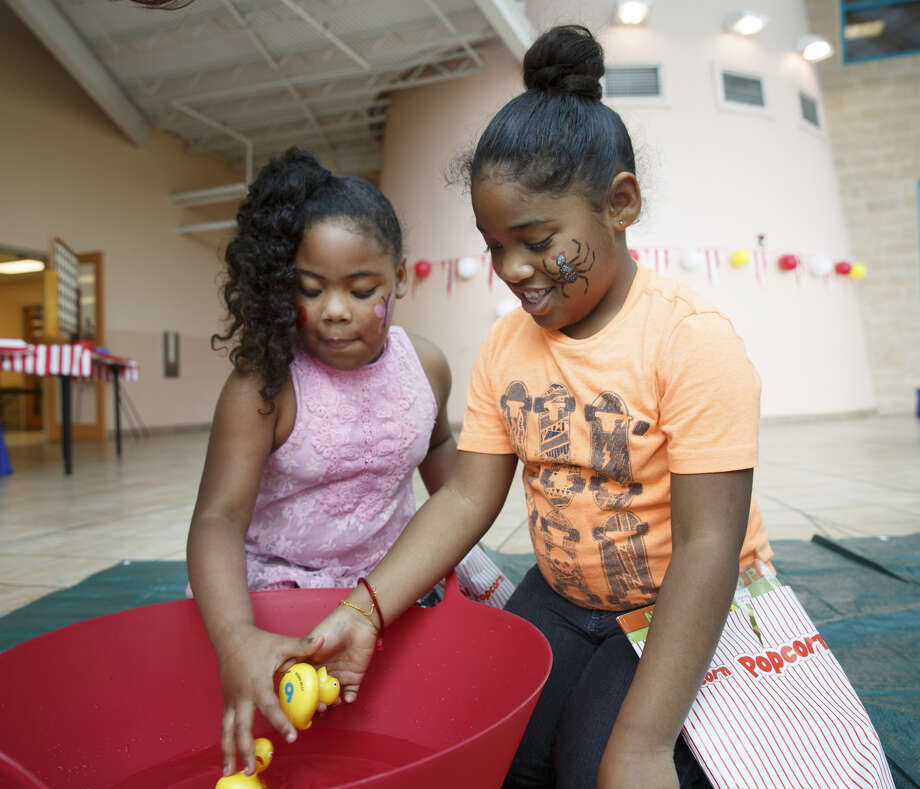 Children play at a Head Start event in northeast Houston on Feb. 24, 2018.
