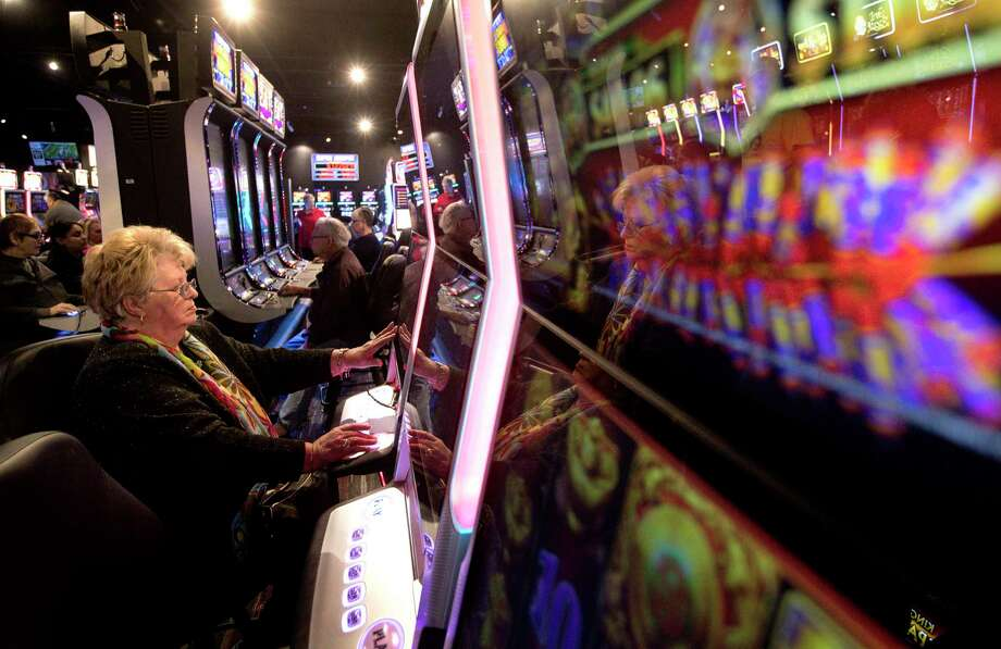 """""""Why can't we have a little fun here?"""" asks a woman named Chris playing at Naskila Gaming near Livingston. Photo: Jon Shapley, Houston Chronicle / © 2018 Houston Chronicle"""