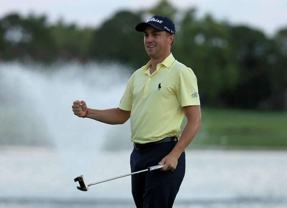 Justin Thomas' playoff victory in the Honda Classic on Sunday was his second tourney win of the season. Photo: Sam Greenwood, Staff / 2018 Getty Images