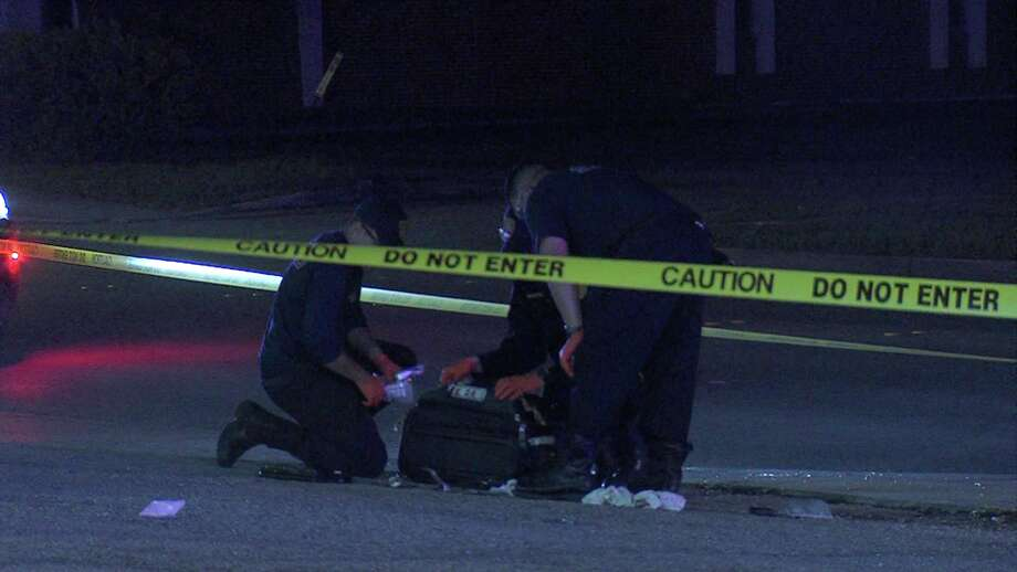 The victim was shot as many as three times around 10 p.m. in a field in the 7100 block of Harlow Drive. Photo: Ken Branca