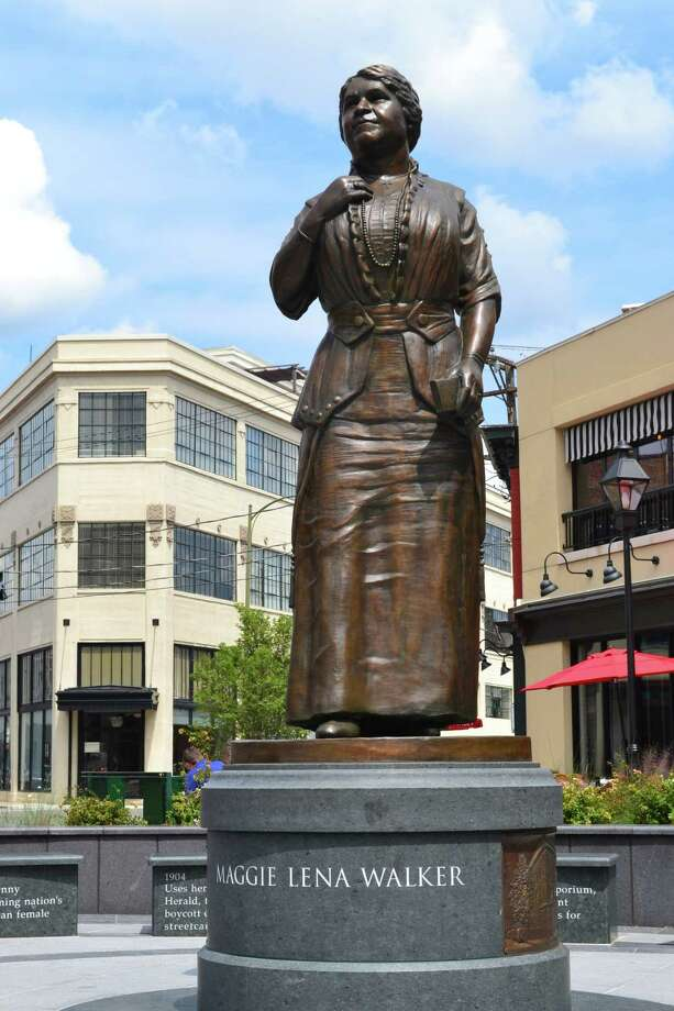 The Maggie L. Walker statue to commemorate the Richmond, Va. woman known for her philanthropy and more. (Courtesy of National Park Service, Maggie L. Walker National Historic Site.)