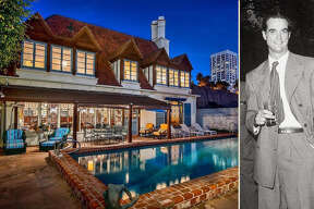 """A Santa Monica beach house once owned by Houston movie and aviation mogul Howard Hughes is on the market for $12 million. The house, located on California's """"Gold Coast,"""" was also previously owned by Hollywood legends Cary Grant and Joan Fontaine at various times since being built in 1930."""
