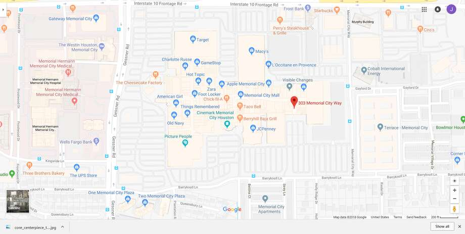 FILE - A screenshot of a Google Maps image of the 300 block of Memorial City Way in Houston, Texas. Sunday morning, police reported a man choked and assaulted a woman while inside a Memorial City Mall bathroom. Photo: File/Google