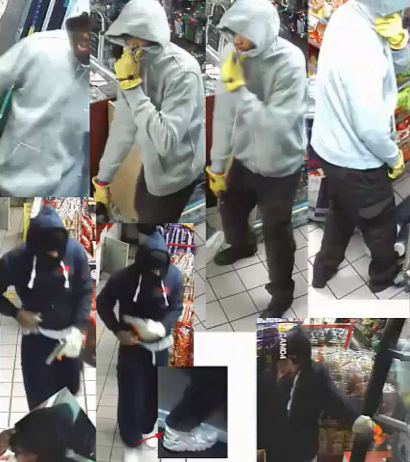 The Houston Police Department is seeking two suspects following an alleged aggravated robbery with a deadly weapon on Dec. 21, 2017. Photo: Houston Police Department - Robbery Division