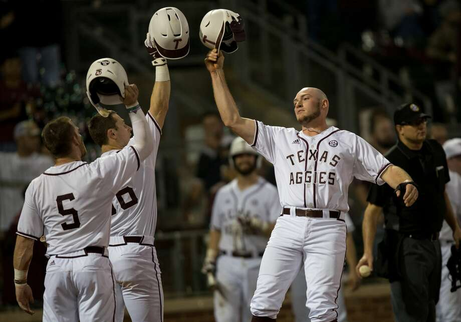 Cornell vs. Texas A&M in a NCAA baseball game Friday, Feb. 23rd, 2018, in College Station, Texas. Photo: Texas A&M/Sam Craft