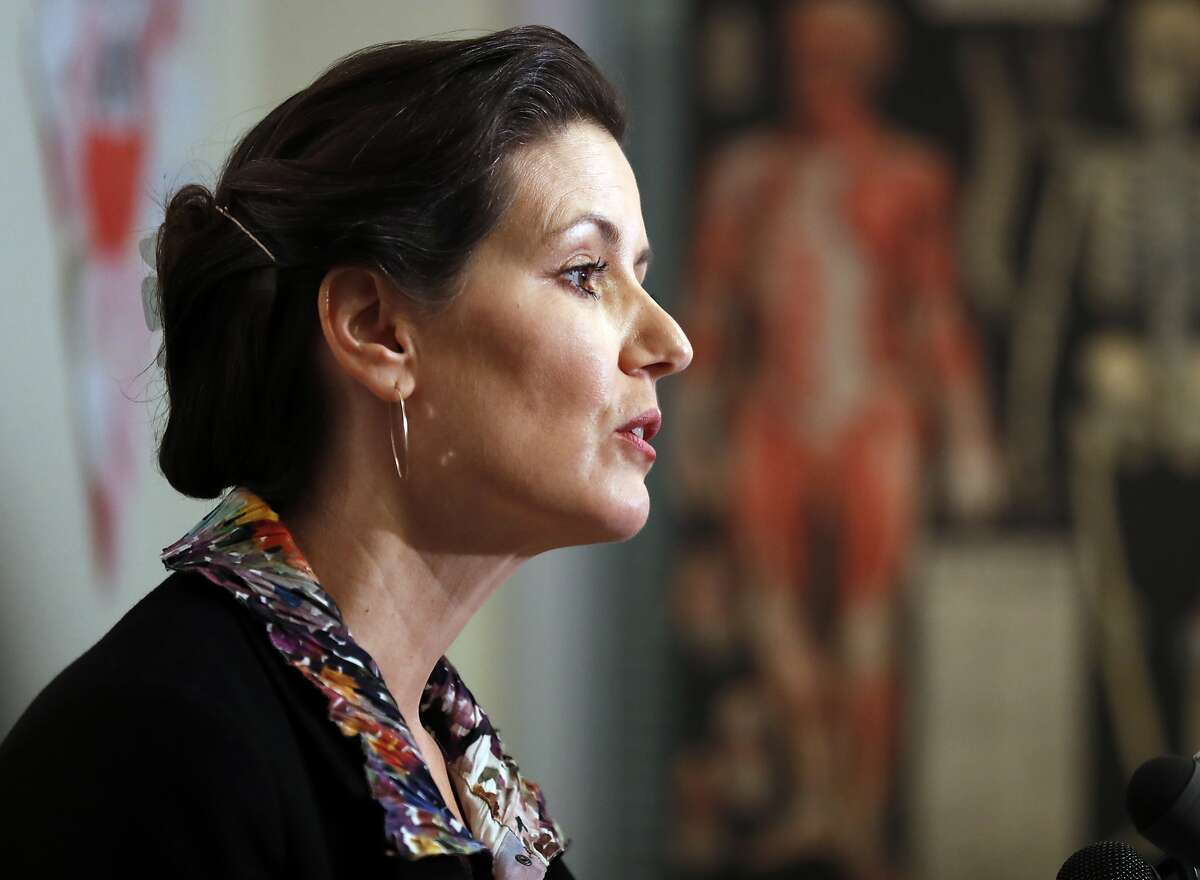 Oakland Mayor Libby Schaaf holds a press conference in Oakland, Calif., on Sunday, February 25, 2018, about information she learned about possible upcoming ICE raids in the Bay Area.