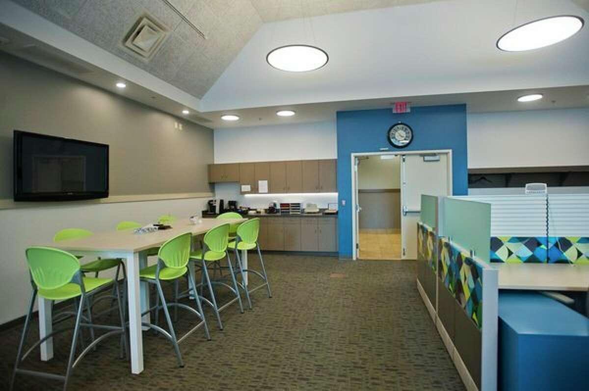 Midland Tomorrow's new Innovation Center features an open floor plan. It is located inside the Herbert D. Doan Midland County History Center at 3417 W. Main St. (Katy Kildee/kkildee@mdn.net)