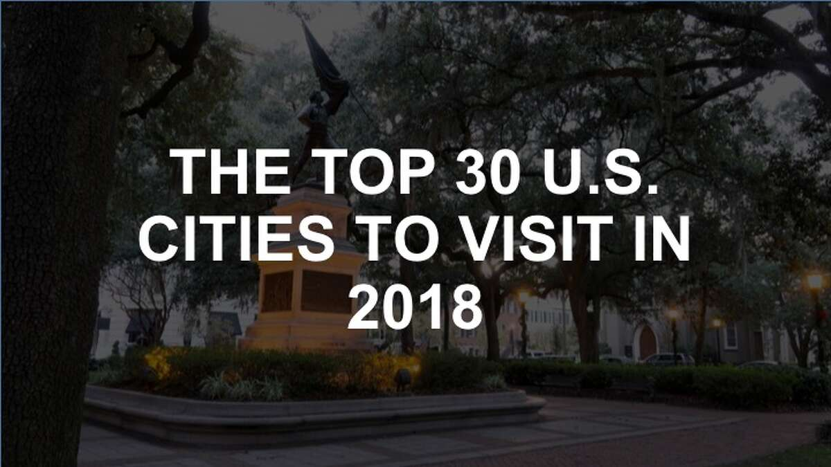 Check out the slideshow to see the top 30 cities to visit in the U.S. this year.