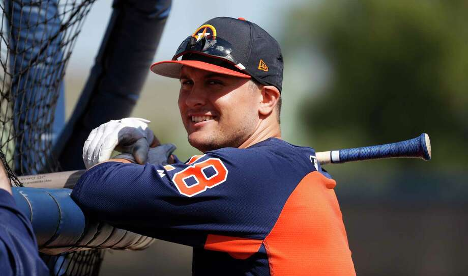 Houston Astros third baseman J.D. Davis (28) during spring training at The Fitteam Ballpark of the Palm Beaches, Saturday, Feb. 24, 2018, in West Palm Beach.   ( Karen Warren / Houston Chronicle ) Photo: Karen Warren, Staff / © 2018 Houston Chronicle