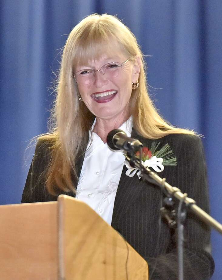 "Mayor Nancy Rossi, shown here at her inauguration on Dec. 3, will host her next ""Mayor's Night In"" to talk with city residents and business owners this Tuesday night, Feb. 27 from 5 p.m.-7 p.m. in the mayor's office on the third floor of City Hall, 355 Main St. in West Haven. Photo: Peter Hvizdak / Hearst Connecticut Media / New Haven Register"