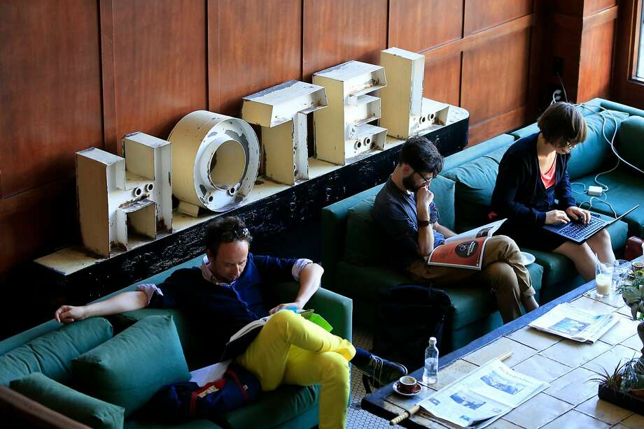 The Ace Hotel in Portland has the kind of common areas popular with many hotels marketed to Millennials. Photo: Mark Boster, TNS