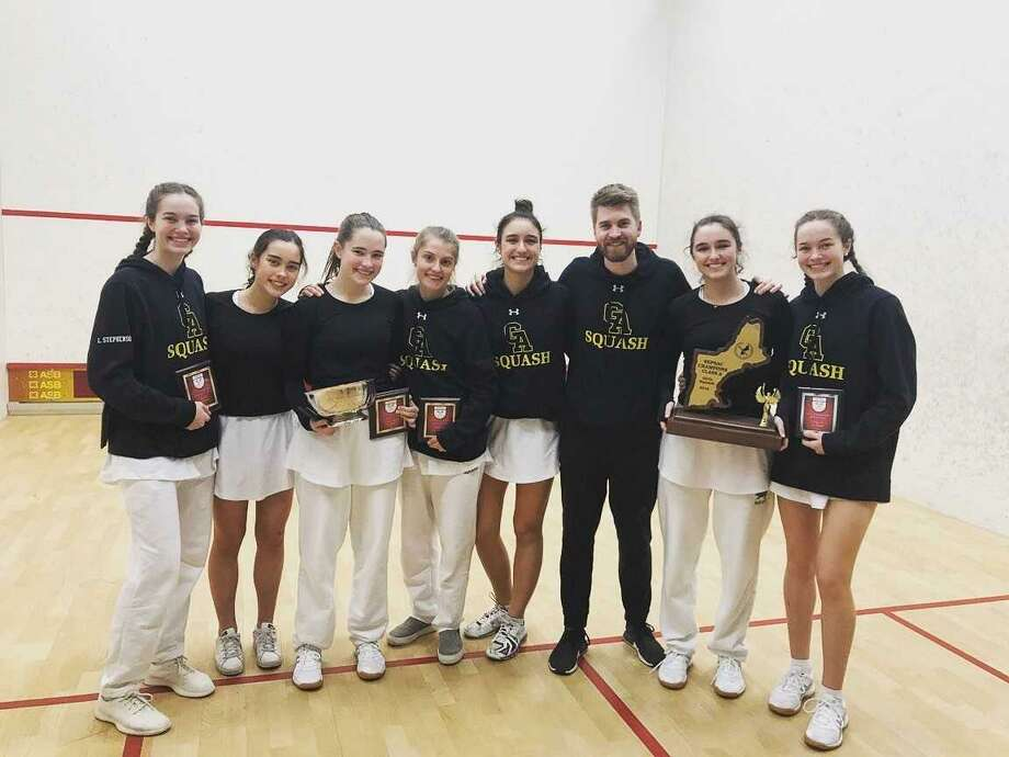 Greenwich Academy captured its seventh straight New England squash title on Sunday at Phillips Exeter Academy. Photo: Contributed Photo