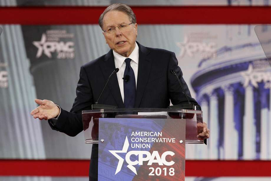 "NRA chief executive officer Wayne LaPierre told subscribers the policy would ""close a critical gap"" in their coverage. Photo: Jacquelyn Martin / Associated Press"