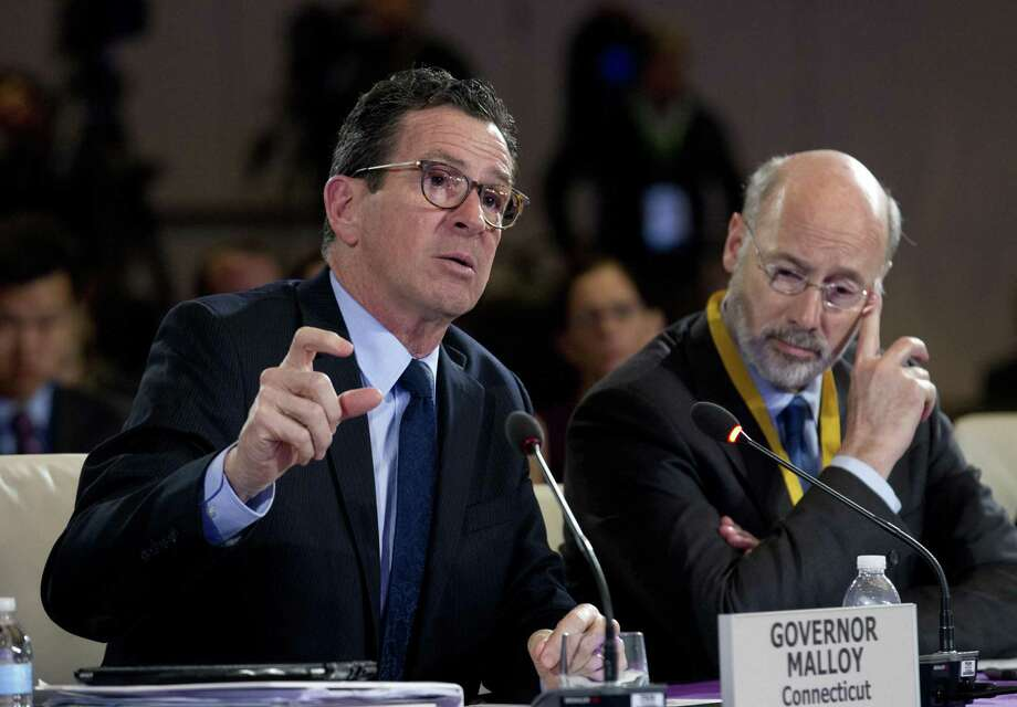Connecticut Gov. Dannel Malloy speaks during the panel Caring for our Veterans at the National Governor Association 2018 winter meeting, on Sunday, Feb. 25, 2018, in Washington. Photo: Jose Luis Magana / Associated Press / FR159526 AP