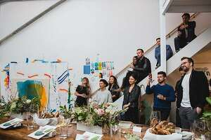Soho House�s San Francisco contingent hosted its first large-format dinner, designed to satisfy that sweet spot between creativity in the arts and creativity in tech on Feb. 22.�The venue was the Dogpatch studio of abstract expressionist artist Heather Day, and musician Chase McBride performed.