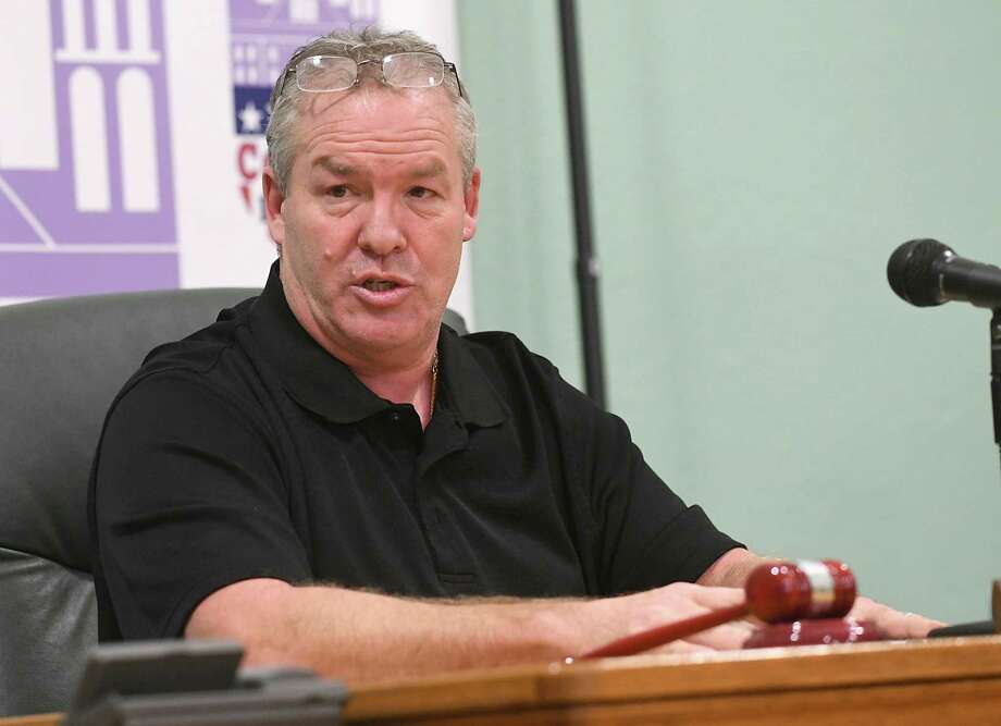 Mayor Shawn Morse is seen leading a public meeting with the Cohoes Common Council at Cohoes City Hall on Tuesday, Dec. 12, 2017 in Cohoes, N.Y. (Lori Van Buren / Times Union) Photo: Lori Van Buren / 20042393A