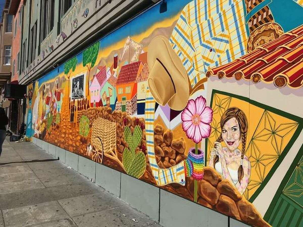 Alberto Ybarra's mural, dedicated to San Juan Citala.