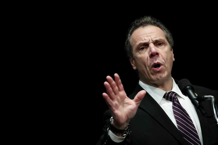 NEW YORK, NY - FEBRUARY 21: New York Governor Andrew Cuomo speaks at a healthcare union rally at the Theater at Madison Square Garden, February 21, 2018 in New York City. The rally was organized by 1199SEIU United Healthcare Workers East, the largest healthcare union in the United States. (Photo by Drew Angerer/Getty Images) Photo: Drew Angerer / 2018 Getty Images