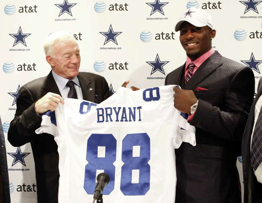 Cowboys owner and general manager Jerry Jones selected Dez Bryant with the No. 24 pick of the 2010 NFL draft. Now Bryant's future in Dallas could be in question due to his declining production and high salary. Photo: Vernon Bryant /Associated Press File / AP