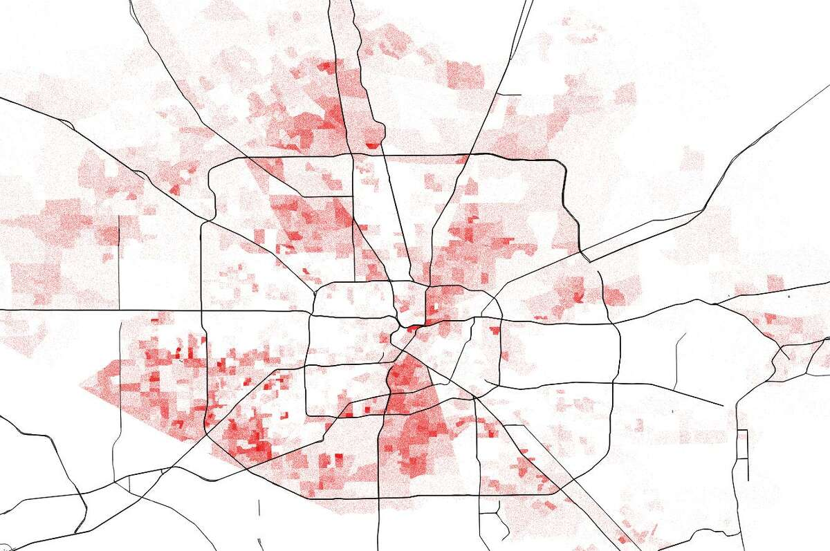 According to U.S. Census estimates, Houston's black residents mostly reside in the southern and northern areas of Harris County. Many of the black majority neighborhoods are outside of the 610 Loop.