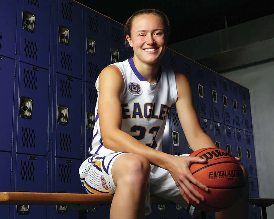 Already a 1,000-points career scorer and Class 3A first team all-stater, Civic Memorial's Allie Troeckler capped her sophomore season with 2015 Telegraph Large-Schools Girls Basketball Player of the Year honors. Billy Hurst / For The Telegraph