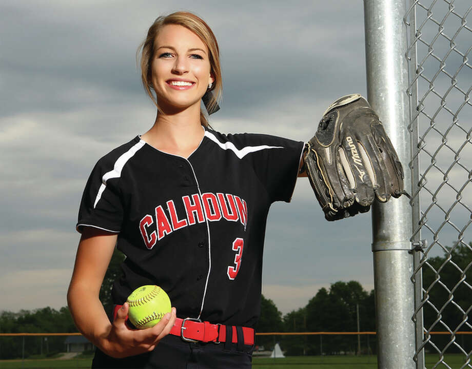 Grace Baalman put up startling numbers as a pitcher and hitter while leading her team to a Class 1A state championship and repeating as Telegraph Small-Schools Softball Player of the Year. Billy Hurst / For The Telegraph