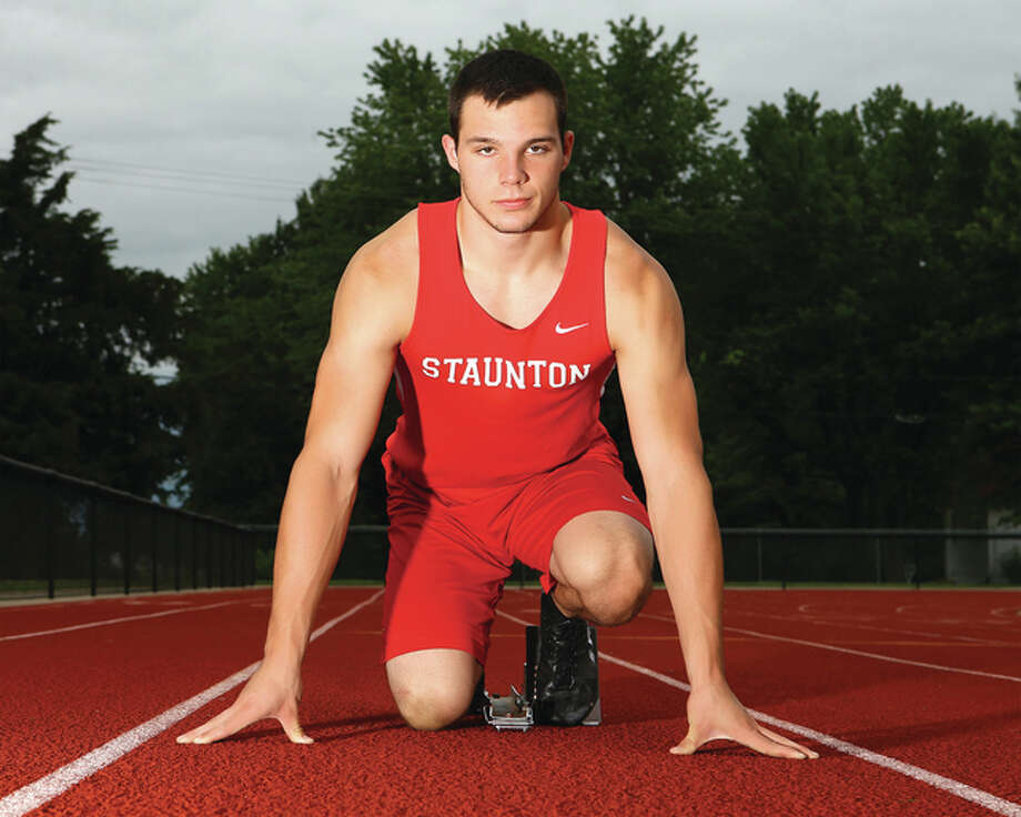 Staunton's Marcus Sitko won three state championships in the 100 meters, triple jump and long jump as a senior at the Class 1A state meet to earn 2015 Telegraph Small-Schools Boys Track Athlete of the Year. Billy Hurst / For The Telegraph